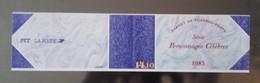 Timbres - Personnages Célèbres 1985 - Faciale 11.40 Fr - Valeur 1.74 € - Bloc N° 2360 - Carnets