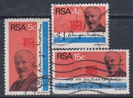 Afrique Du Sud N° 347 / 49 O  Centenaire De La Naissance De C. J. Langenhoven Les 3 Valeurs Oblitérées Sinon TB - Afrique Du Sud (1961-...)