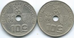 Belgium - Leopold III - 10 Centimes - 1938 (KM112) & 1939 (KM113.1) - 02. 10 Centimes