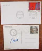 Jean-Louis DEBRE Autographe Versailles Congrès Du Parlement 2003 Les Questeurs Flamme Postale + Olivier Débré - Eure - France
