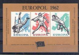 Finlande. Vignette Gommée. Europol 1962. Championnat D'athlétisme Interpolices. Bruxelles - Commemorative Labels