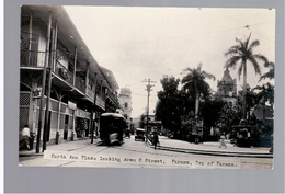 PANAMA  Santa Ana Plaza Tram Panama City Ca 1930 OLD  PHOTO POSTCARD - Panama