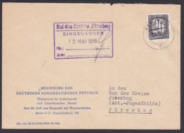 ZKD-Brief B3 BERLIN O17 Regierung Der DDR Ministerium Für Außenhandel Zoll Kontrolle Warenverkehr Jützerbog,  Germany - [6] Oost-Duitsland