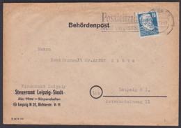 Behördenpost 1950, Leipzig Finanzamt Auf Umschlag Von Steueramt Leipzig Stadt MWSt. Postleitzahl Nicht Vergessen! - [6] Oost-Duitsland