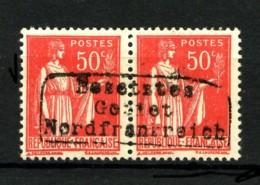 GUERRE - 3 - 50c Rose Type Paix - Paire Surchargée - Neuf N* - 3 Signatures Dont Calves Et A. Brun - Très Beau - Wars