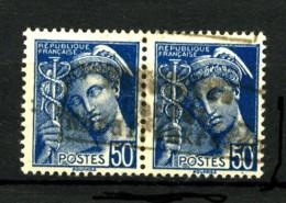 GUERRE - 4 - 50c Bleu Type Mercure - Paire Surchargée - Neuf N* - 2 Signatures Dont Cérès - Très Beau - Wars