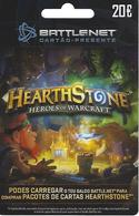 PORTUGAL - Blizzard Hearthstone Heroes Of Warcraft Gift Plastic Card - Gift Cards