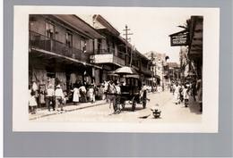 PANAMA  Street Scene In Picturesque Panama Ca 1930 OLD  PHOTO POSTCARD - Panama