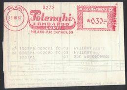 AP21   Italia,Italy Red Meter / Freistempel / Ema 1967  Polenghi Lombardo Milano - Affrancature Meccaniche Rosse (EMA)