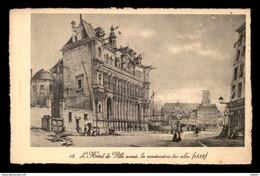 GRAVURE - PARIS - L'HOTEL DE VILLE EN CONSTRUCTION EN 1838 - Vieux Papiers