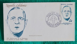"Enveloppe Premier Jour ""Gen. De Gaulle"" - Nueva Caledonia"
