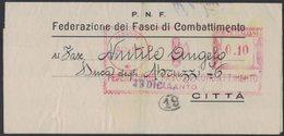 AP23   Italia,Italy Red Meter / Freistempel / Ema 1941  Federazione Fasci Combattimento Taranto - Affrancature Meccaniche Rosse (EMA)