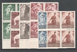 """Österreich 1947: """"Kriegsgefangene """" Kpl.Satz 4er-Block Postfrisch Luxus (s.Foto) - 1945-.... 2ème République"""