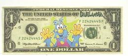 CARTA  MONETA  PUBBLICITARIA  -  NON  VERA--  FIABILANDIA   RIMINI   PARCO  GIOCHI ONE  DOLLAR - Banconote