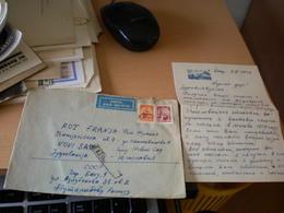 CCCR Baku Azerbadjan Par Avion  To Novi Sad 1962 - Lettres & Documents