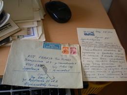CCCR Baku Azerbadjan Par Avion  To Novi Sad 1962 - Covers & Documents