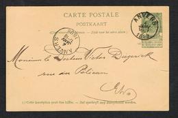 // OUDE POSTKAART  CARTE POSTALE  ANVERS - ANVERS  1898 - 1893-1907 Coat Of Arms