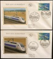 France FDC - Premier Jour - Lot De 2 FDC - Thématique Train TGV - 2007 - FDC