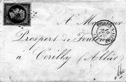 3871 - De FOULENAY LAC Napoleon III 20 Ctmes Be 14B TB 1861 Cachet MOULINS SUR ALLIER - PC 2188 - Armoiries - 1849-1876: Classic Period