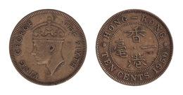 Hong Kong / 1950 / 10 Cents / KM: 2 / XF - Hong Kong