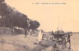 Afrique-MALI GAO Chalands Sur Les Bords Du Niger*PRIX FIXE - Mali