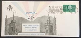 D333 Vosges «Jumelage Saint Dié Arlon» 15/7/1961 1266 Europa - Postmark Collection (Covers)