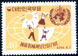 Ref. 27297 * NEW *  - SOUTH KOREA . 1961. 10 ANIVERSARIO DEL DIA MUNDIAL DE LA SALUD - Corea Del Sur