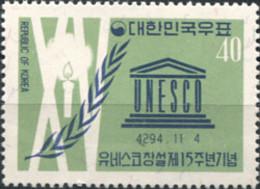 Ref. 287874 * NEW *  - SOUTH KOREA . 1961. 15 ANIVERSARIO DEL LA UNESCO - Corea Del Sur