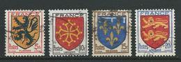 FRANCE 1944 . Série N°s 602 à 605  Oblitérés . - France