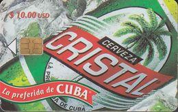 Cuba CUB- 128 Cerveza Cristal Beer , RS 2 Nd  ( 50.000x) - Cuba