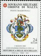 Ref. 176938 * NEW *  - SOVEREIGN MILITARY ORDER OF MALTA . 2004. CONVENCION POSTAL CON SEYCHELLES - Malta (la Orden De)