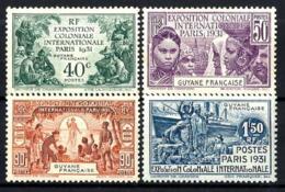 Guyana Francesa Nº 133/36 Con Charnela - Nuevos
