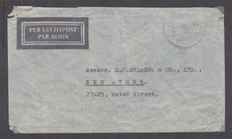DUTCH INDIES. 1946 (23 Feb). Batavia - USA / NY. Airmail Env Stampless Violet Cachet. - Nederlands-Indië