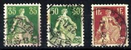 Suiza Nº 122a-124a-126a En Usado - Suiza