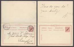 GERMAN COL-CAMERUN. 1900 (3 Jan). Kamerun - China / Shanghai (28 Feb). German PO Doble 10pf Red Ovptd Stat Card Better D - Germany