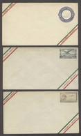 MEXICO. 1926-8. 3 Mint Airmail Stat Env. Fine. - Mexico
