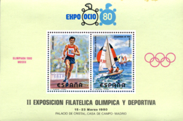 Ref. 272424 * NEW *  - SPAIN Vignettes . 1980. II EXPOSICION FILATELICA OLIMPICA Y DEPORTIVA - Variétés & Curiosités