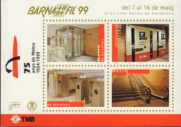 Ref. 585387 * NEW *  - SPAIN Vignettes . 1999. BARNAFIL-99 - 75 A�OS DEL METRO DE BARCELONA - Variétés & Curiosités
