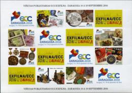 Ref. 359452 * NEW *  - SPAIN Vignettes . 2016. EXFILNA - ZARAGOZA-2016 - Variétés & Curiosités