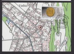 13.- LIECHTENSTEIN 2014 Three Maximum Card. Archaeological Finds In Liechtenstein: Coins - Arqueología