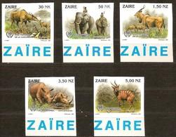 Zaire 1994 OCBnr. 1452-56 *** MNH  Cote 20 Euro Faune Non Dentélé Ongetand - Zaire