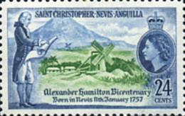 Ref. 359360 * NEW *  - ST.CHRISTOPHER-NEVIS-ANGUILLA . 1957. BICENTENARIO DE ALEJANDRO HAMILTON - San Cristóbal Y Nieves - Anguilla (...-1980)