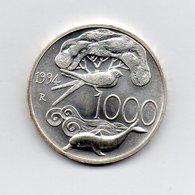 """ITALIA - 1994 - 1000 Lire """"Flora E Fauna - 4^ Serie"""" - Argento 835 - Peso 14,6 Grammi - (MW2171) - 1946-… : Repubblica"""
