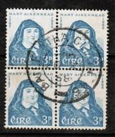 IRELAND  Scott # 167 VF USED BLOCK Of 4 (Stamp Scan # 484) - 1949-... Republic Of Ireland