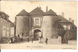 Carte Postale Ancienne 1906 - Evry Le Chatel - La Porte Saint Nicolas - Editeur Charpentier - Ervy-le-Chatel