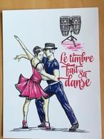 Entier Postal Fête Du Timbre 2014 Danse, La Salsa - Dance