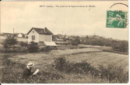 Carte Postale Ancienne 1910 - Evry Le Chatel - Vue Prise Sur La Ligne Au Dessus Du Moulin - Ervy-le-Chatel