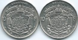 Belgium - Baudouin - 10 Francs - 1970 - French (KM155.1) & 1976 - Dutch (KM156.1) - 1951-1993: Baudouin I