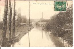 Carte Postale Ancienne 1910 - Evry Le Chatel - Vue Prise Du Pont - Ervy-le-Chatel