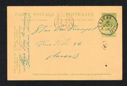 // OUDE POSTKAART  CARTE POSTALE  LEBBEKE  -  ANTWERPEN  1911 - 1893-1907 Armoiries